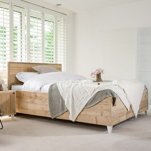 Steigerhout bed Trento