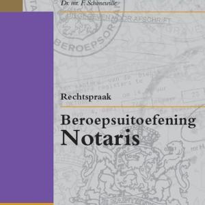 Rechtspraak beroepsuitoefening notaris - Paperback (9789012390781)