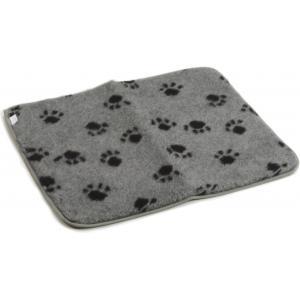 Vetbed voor hondenbench grijs 63 x 55 cm