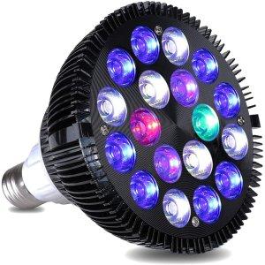 18 W LED Aquarium Licht Aquarium LED Licht Aquarium Gloeilamp met 6-Band Volledig Spectrum voor Koraalrif Zoutwater Tank