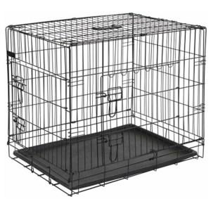 Homestyle Bench 2-Deurs Zwart - Hondenbench - 107x70x77.5 cm