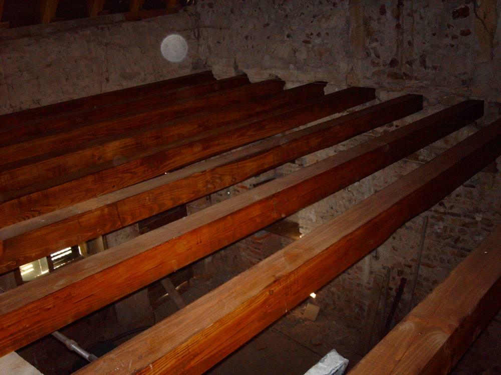 Fase 2: Nieuw balkenplafond 1e verdieping (1/4)