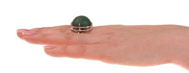 grote zilveren handgemaakte ring