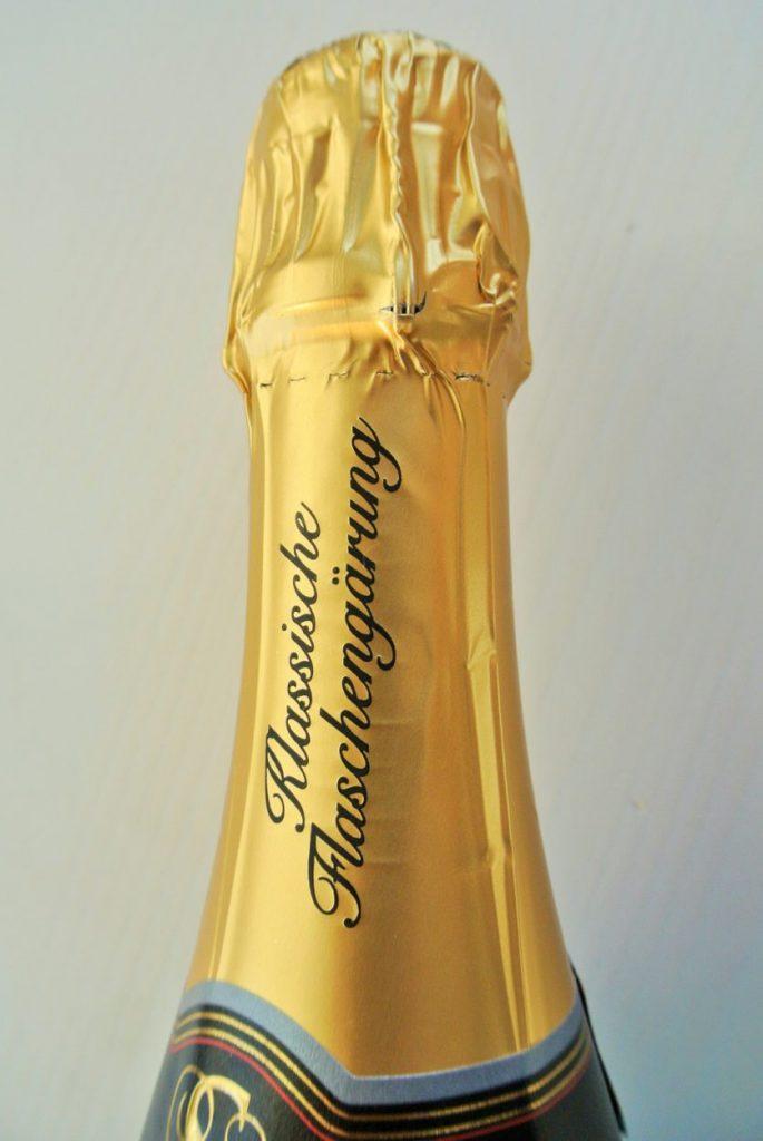 Sekt wijn klassische flaschengarung