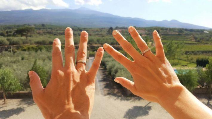 op vakantie naar Sicilië: trouwringen