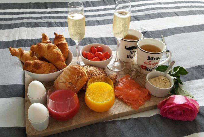 Champagne ontbijt maken: het eindresultaat