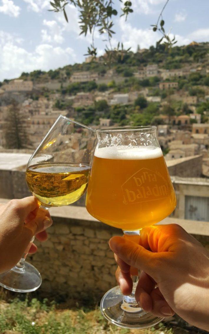 Restaurant Sicilie: Gli Orti di San Giorgio in Modica bier en wijn