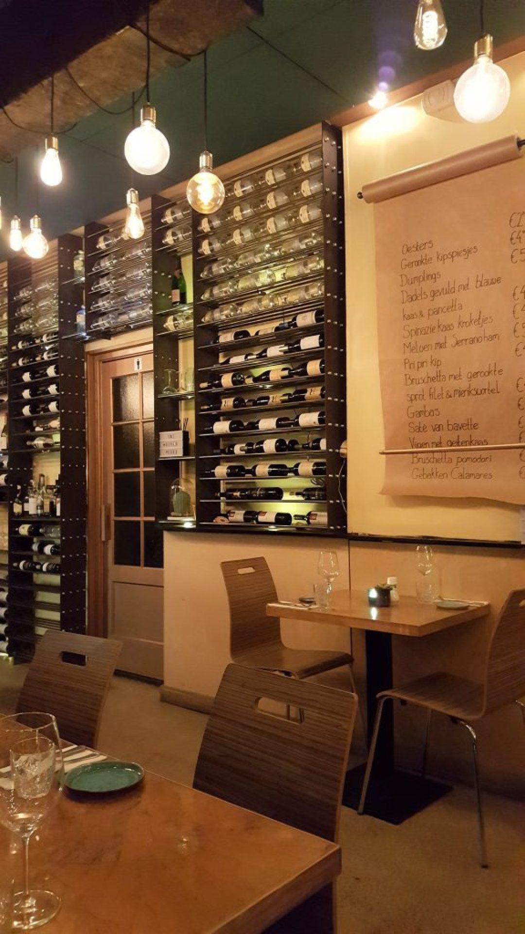 wijnbar en shared dining restaurant Kurk: interieur