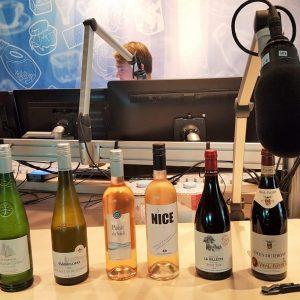 Franse wijnproeverij op de radio