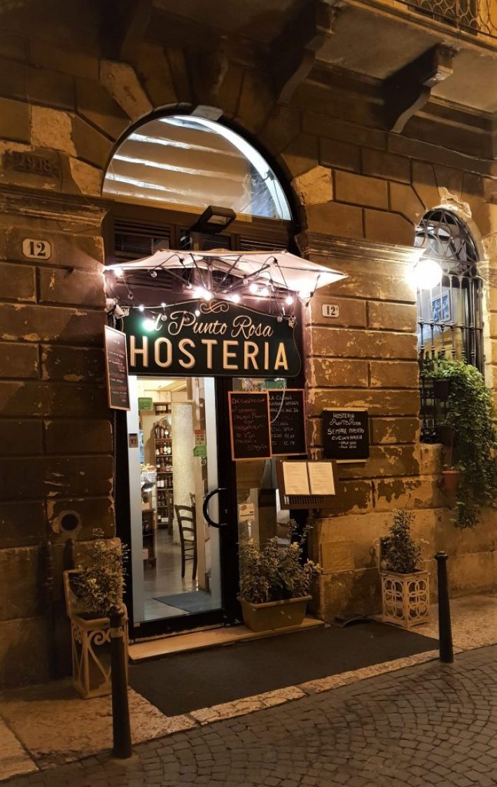 Tips voor restaurants of wijnbar in Verona Italië: Hosteria Il Punto Rosa