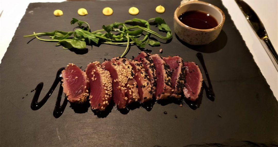 Tips voor restaurant in Verona Italië: Yard restaurant tonijn tartaar