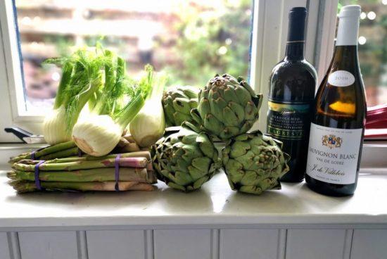 wijn en groente combineren