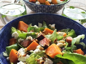 salade zoete aardappel vijgen wijsuikervrij suikervrij blog recepten
