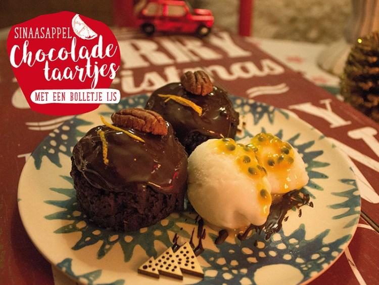 kerstmenu chocoladetaartjes
