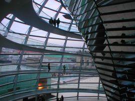 Glazen koepel boven Parlement.