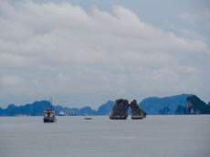 Regentijd in Halong Bay.
