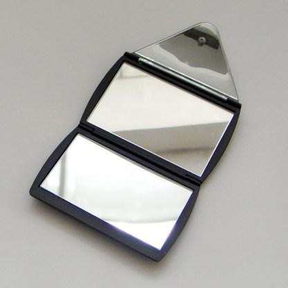 Luxusné kozmetické zrkadielko do kabelky. Farba- čierna. Rozmer: 6cm x 8,5cm.