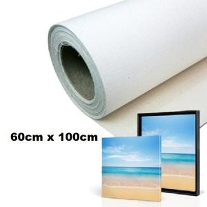 Maliarske plátno. Farba- biela. Zloženie- 100% bavlna. Gramáž- 380g/m2 Rozmer: 60cm x 100cm.