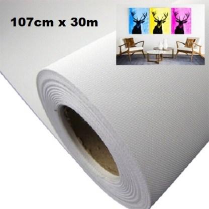 Maliarske plátno. Farba- biela. Zloženie- 100% polyester. Gramáž- 260g/m2 Rozmer: 107cm x 30m.