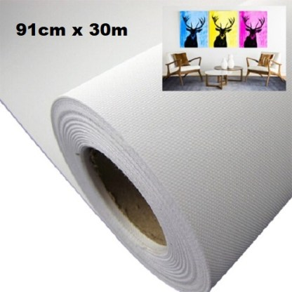 Maliarske plátno na rolke. Farba- biela. Zloženie- 100% polyester. Gramáž- 260g/m2 Rozmer: 91cm x 300cm.