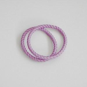 Prepletaná gumičkadovlasov s lurexom pre ženy a detí. Farba- fialová. Rozmer: 0.5cm x 6cm