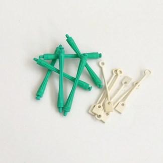 Profesionálne natáčky na trvalú onduláciu, vrátane pevných gumičiek s dlhou životnosťou. Farba- zelená Priemer: 0,8cm.Dĺžka: 8cm.