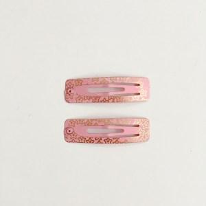 Krásne sponky pukačky do vlasov kovové s hviezdičkami pre ženy a detíčky, 2ks. Farba- ružová. Rozmer: 5cm.
