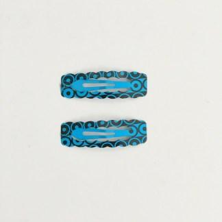 Krásne sponky pukačky do vlasov kovové s kruhmi pre ženy a detíčky, 2ks. Farba- modrá. Rozmer: 4cm.