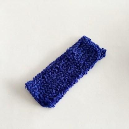 Široká pletená čelenka do vlasov jednofarebná pre ženy a deti. Farba- modrá. Rozmer: 6,5cm.