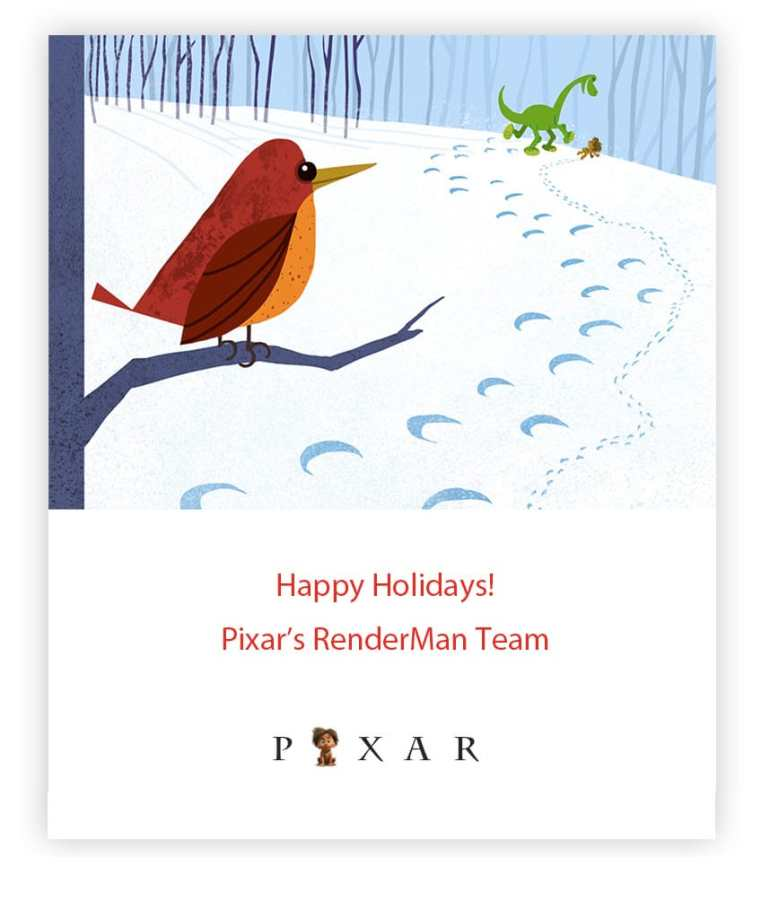 pixarrenderman VFX Holiday Season's Greetings