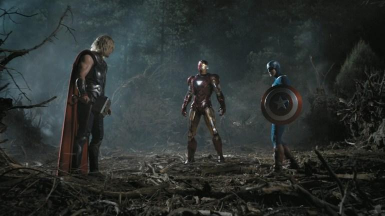 895843-captain-america-chris-evans-chris-hemsworth-iron-man-marvel-comics-screenshots-the-avengers-movie-trailer1 10 years of Marvel's visual effects - Part 1 Articles News
