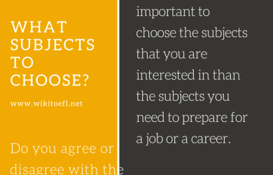 WHAT SUBJECTS TO CHOOSE