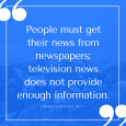 Newspapers or TV as a News Sources - TOEFL iBT Essay Writing Topics 28+