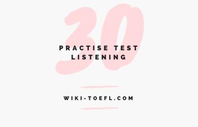 TOEFL iBT Listening Practice 30