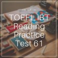 Toefl IBT Reading Practice Test 61