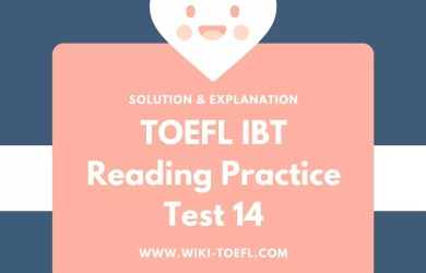 TOEFL IBT Reading Practice Test 14