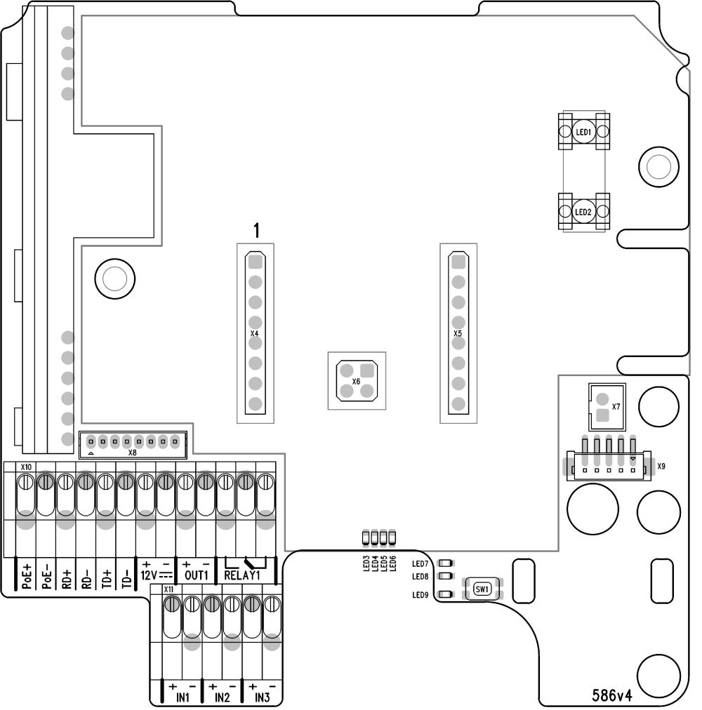 medium resolution of 2n access unit connectors pcb version 586v4