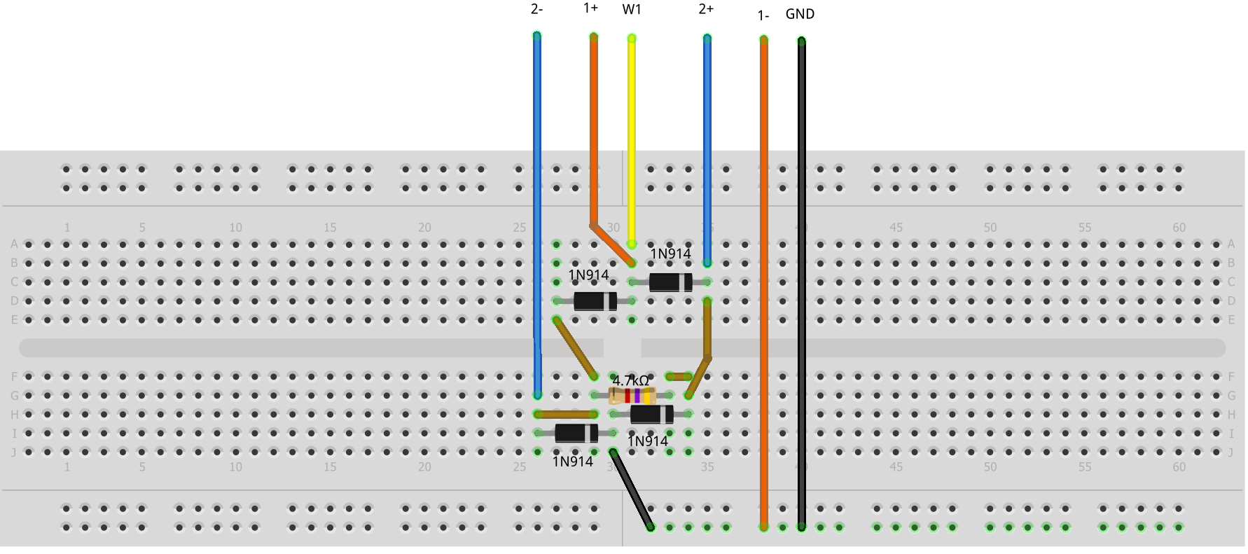 hight resolution of figure 13 diode bridge rectifier breadboard circuit