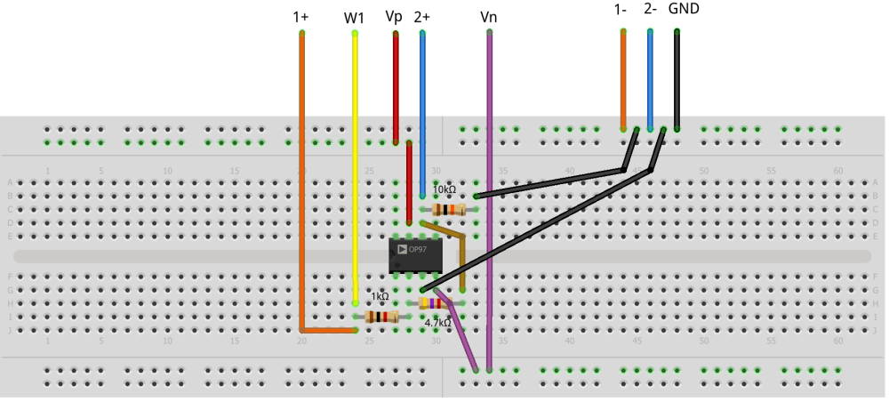 medium resolution of figure 1 9 inverting amplifier breadboard circuit