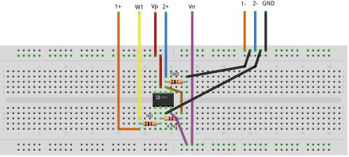 small resolution of figure 1 9 inverting amplifier breadboard circuit