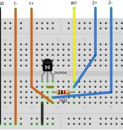 figure 2 npn diode breadboard circuit [ 1787 x 665 Pixel ]