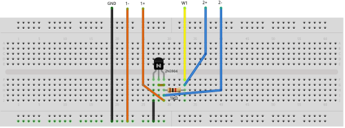 small resolution of figure 2 npn diode breadboard circuit