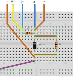 figure 2 zener diode regulator breadboard circuit [ 1781 x 682 Pixel ]