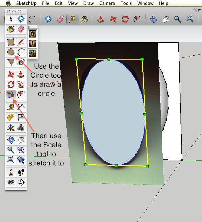 How To Make An Oval In Sketchup