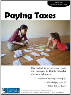 Paying Taxes in BC  Clicklaw Wikibooks
