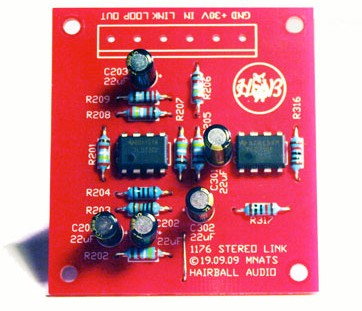 DIY 1176 stereo link kit from hairball audio