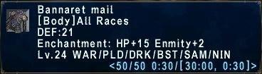 Bannaret Mail - ffxi