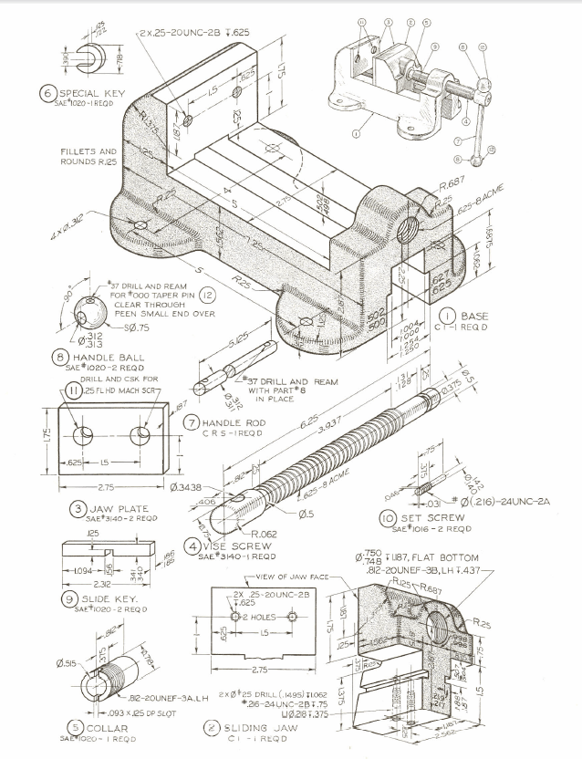 Assembly Drawing Of Machine Vice Pdf