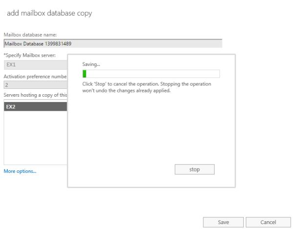 Database Copy islem