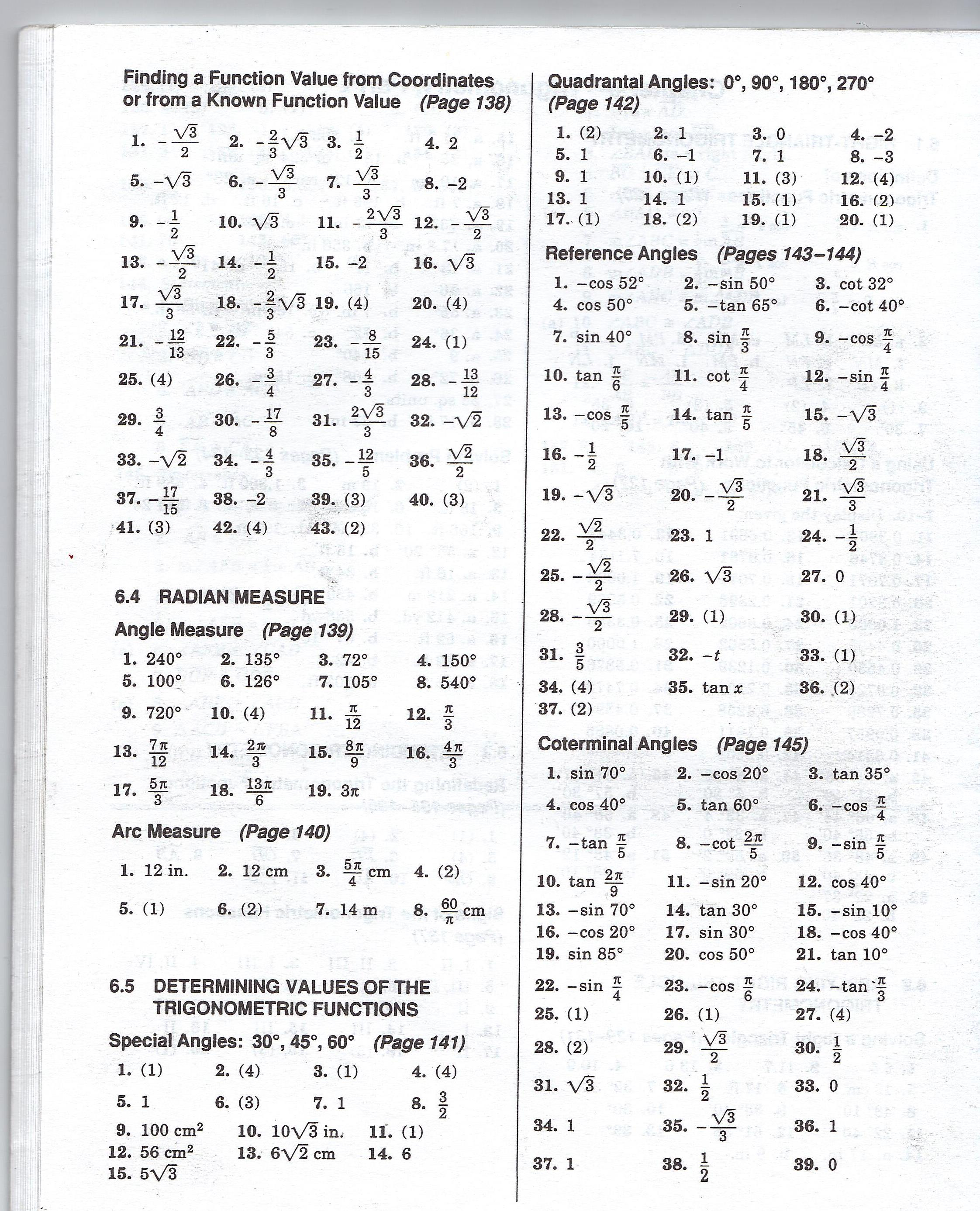 Did You Hear About Math Worksheet C 41 Answers